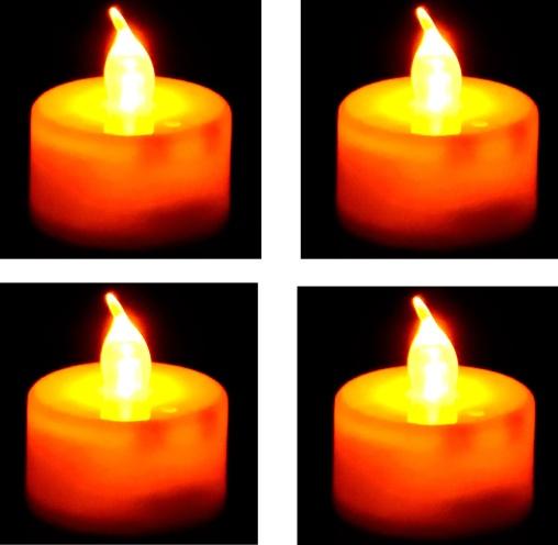 LED čajová svíčka 4 ks