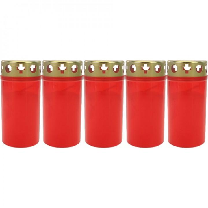 Svíčky na hrob červené zlaté víčko