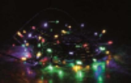 LED řetěz barevný mix