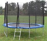 Trampolína 244, 250 cm - 8 ft, s ochrannou sítí, zdarma žebřík a plachta