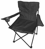 Kempingové křeslo skládací, rybářská židle - černá do 120 kg s přepravní taškou