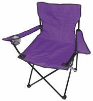Kempingové křeslo skládací, rybářská židle - fialová lila do 120 kg s přepravní taškou