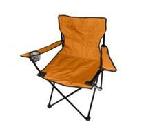 Kempingové křeslo skládací, rybářská židle - oranžová do 120 kg s přepravní taškou