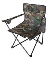 Kempingové křeslo skládací, rybářská židle - maskáčový vzor - camouflage do 120 kg s přepravní taškou