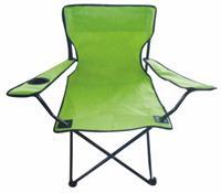 Kempingové křeslo skládací, rybářská židle - limetkově zelená do 120 kg s přepravní taškou