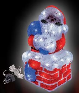 LED Santa na komíně