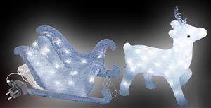 LED sob se sáněmi