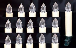 Bezdrátové vánoční svíčky na dálkové ovládání 16 LED