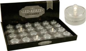 LED čajová svíčka na baterie bílé světlo
