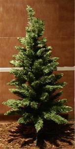 Vánoční stromek umělá zelená jedle 90 cm 100 tipů, průměr 50 cm, umělý podstavec