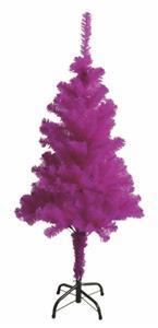 Umělý vánoční stromek 120 cm - fialový lila, včetně kovového stojanu