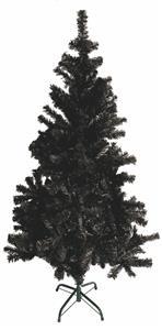 Umělý vánoční stromek 120 cm - černý, včetně kovového stojanu