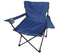Kempingové křeslo skládací, rybářská židle - modrá do 120 kg s přepravní taškou