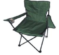 Kempingové křeslo skládací, rybářská židle - zelená do 120 kg s přepravní taškou