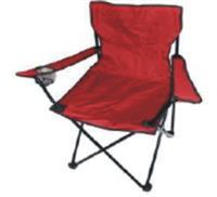 Kempingové křeslo skládací, rybářská židle - červená do 120 kg s přepravní taškou