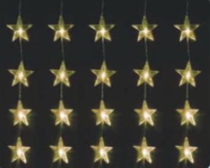 Vánoční osvětlení hvězdy 40 LED, 60 x 80 cm, teplá bílá