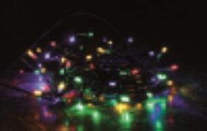 200 LED vánoční mini řetěz 20m venkovní - barevný mix