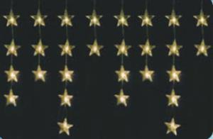 Vánoční osvětlení hvězdy 40 LED, 100 x 60 cm, teplá bílá